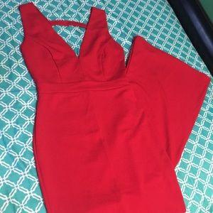 Long sleeveless red mermaid dress ❤️
